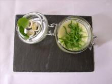 Legiertes Schaumsüppchen vom jungen Spinat mit Calamari - Rezept
