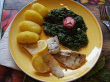 Rahmspinat mit Zanderfilet und Pellkartoffel-Drillingen - Rezept - Bild Nr. 2