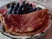 Schneller Eierkuchen mit Heidelbeeren - Rezept - Bild Nr. 13941