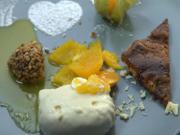 Dreierlei Schokoladen Variationen an Orangensoße und Physalis - Rezept - Bild Nr. 13941