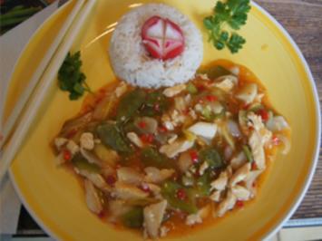 Chili-Hähnchenbrustfilet mit Basmati-Reis - Rezept - Bild Nr. 13960