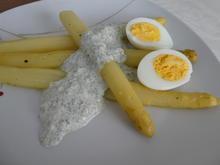 Ofenspargel mit Ei und grüner Sauce - Rezept - Bild Nr. 13963