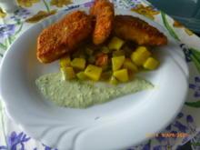 Knusperfisch mit Kartoffelsalat und Kräutersauce - Rezept - Bild Nr. 13971