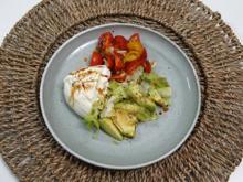 Burrata auf einem Bouquet aus Salat, Avocado und Cocktailtomaten - Rezept - Bild Nr. 2