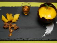 Cocos-Mango-Creme in Schokobowl - Rezept - Bild Nr. 2