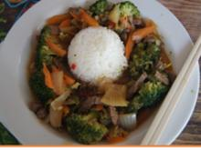 Rindfleisch mit Brokkoli und Jasmin-Reis - Rezept - Bild Nr. 13998