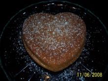 Schneller Herzkuchen - Rezept