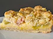 Rhabarberkuchen mit Vanillecreme - Rezept - Bild Nr. 2