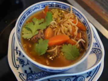 Asiatische Rindfleisch-Nudel-Suppe - Rezept - Bild Nr. 2