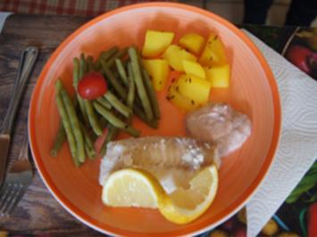 Kabeljaufilet mit Preiselbeeren-Dip, grünen Bohnen und Kartoffeln - Rezept - Bild Nr. 2
