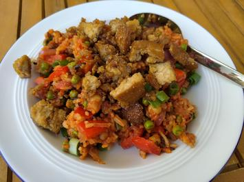Reispfanne Djuvec-Style mit Crumbled Tofu - Rezept - Bild Nr. 2