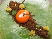 Mango-Maracuja-Gelee mit Mirror-Glace als Kirsche - Rezept - Bild Nr. 14074