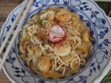 Singapur Laksa mit Garnelen und Mie-Nudeln - Rezept - Bild Nr. 14077
