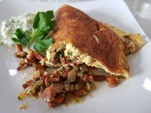 Pfifferlings-Omelett mit Gurkensalat - Rezept - Bild Nr. 14101