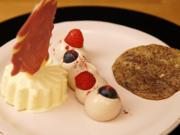 Schoko-Panna-Cotta mit Schokoparfait und American Cookie - Rezept - Bild Nr. 2