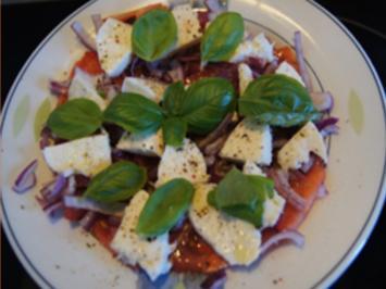 Herzhafter Tomaten-Mozzarella-Salat - Rezept - Bild Nr. 2