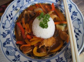 Chinesischer Hähnchen-Gemüse-Wok mit Jasmin-Reis - Rezept - Bild Nr. 14114