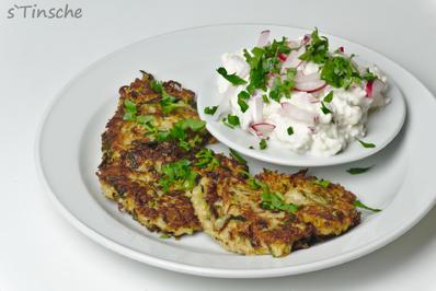 Gemüserösti mit Radieschen-Frischkäse-Dipp - Rezept - Bild Nr. 2