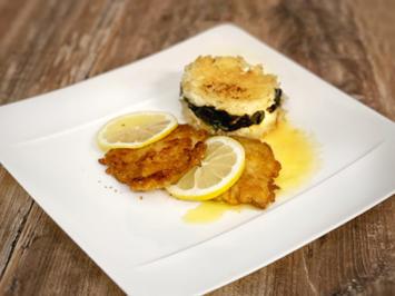 Spinat und Reis aus dem Ofen mit Piccata Milanese (Sarah Lombardi mit Mutter) - Rezept - Bild Nr. 2