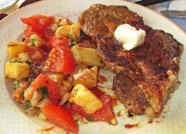 Gegrilltes mit Tomaten-Kartoffelsalat - Rezept - Bild Nr. 2