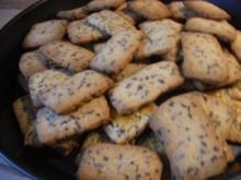 Apfelsinen-Schokoladen-Kekse, Apfelsinen-Schokoladen-Plätzchen - Rezept