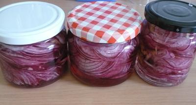Eingelegte rote Zwiebeln - Rezept - Bild Nr. 14134