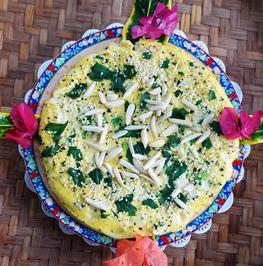 Pikantes, kretisches Blumenkohl-Omelette mit Bergkäse - Rezept - Bild Nr. 14170