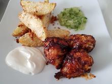 Fried Chicken mit BBQ-Soße und Parmesan-Ofen-Kartoffeln - Rezept - Bild Nr. 14180