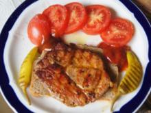 Steak auf Sonnenblumenbrot mit Tomate und Peperoni - Rezept - Bild Nr. 2