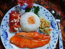 Exotisch-scharfes Doradenfilet in Sriracha-Sauce mit Basmatireis - Rezept - Bild Nr. 14212