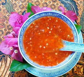 Thailändische, rote Süß-Sauer-Scharfe Sauce -Naam Jim Priau Wan - Rezept - Bild Nr. 14242