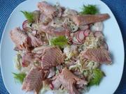 Fenchel - Radieschen - Salat mit geräucherter Forelle - Rezept - Bild Nr. 2