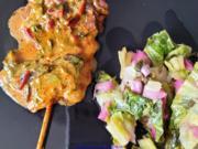 Filetspiess mit Salat oder Pakchoigemüse und einer herzhafter Sosse - Rezept - Bild Nr. 14