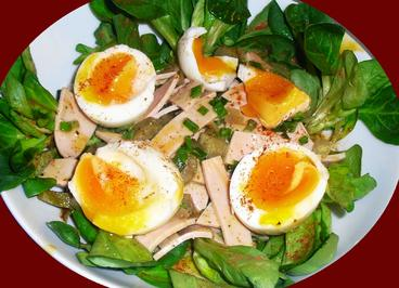 Pikanter Wurstsalat begegnet Feldsalat - Rezept - Bild Nr. 2