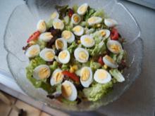Gemischter Salat mit Wachteleiern - Rezept - Bild Nr. 14264
