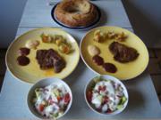Paprika Nackensteak mit gemischten Salat und Piraten-Pfeffer-Ring - Rezept - Bild Nr. 2