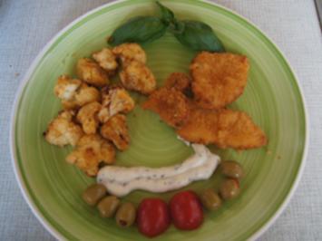 Mini Knusper Schnitzel mit knusprigen Blumenkohlröschen aus der Heißluftfritteuse - Rezept - Bild Nr. 2