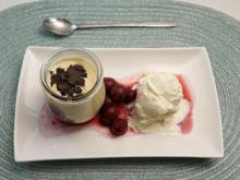 Joghurt-Vanilleeis mit Eierlikör-Mascarpone-Creme und Rumkirschen - Rezept - Bild Nr. 2