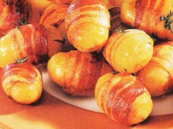 Thymian Speck Kartoffeln mit Dip - Rezept