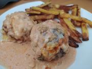 Griechische Bifteki mit Metaxa-Sahnesauce - Rezept - Bild Nr. 14312