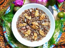 Süß-saure Belugalinsen mit Walnüssen und Birnen - Rezept - Bild Nr. 2