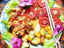 Scharfes Hühnercurry mit Süßkartoffeln und Tomaten - Sambal Ayam dan Ubi - Rezept - Bild Nr. 2