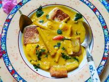 kulinarische Weltreise - Kokossuppe mit reifen Jakobsfrüchten - Rezept - Bild Nr. 14319