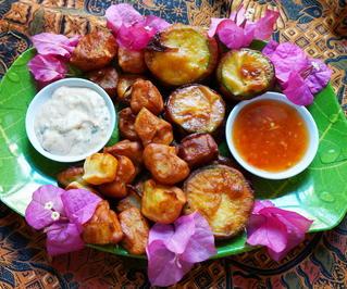 Im Teig frittiertes Gemüse zum Dippen - Rezept - Bild Nr. 2