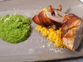 Huhn in fremder Jacke / Riso / frisches Grün - Rezept - Bild Nr. 14341