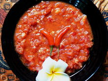 Scharfe Tomatensauce – Sambal cobek - Rezept - Bild Nr. 2