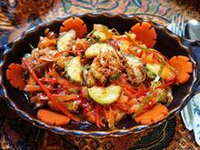 Sambal mit gebackenen Zucchini und Peperonistreifen - Rezept - Bild Nr. 14383