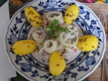 Matjesfiletsalat mit griechischen Joghurt und Kümmel-Pellkartoffeln - Rezept - Bild Nr. 14398