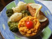 Ofen-Backfisch mit Bluccoli und Süßkartoffelstampf - Rezept - Bild Nr. 14391