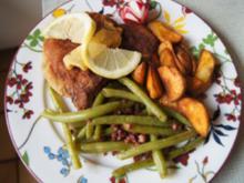 Stielkotelett mit grünen Bohnen und Kartoffel Wedges - Rezept - Bild Nr. 14392